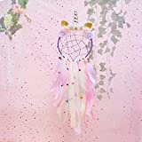 Beinou Unicorn Dream Catcher Colorful Feather Dream