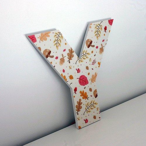 Altura 30 cms Letras Decorativas Y con Imagen de Estampado oto/ñal