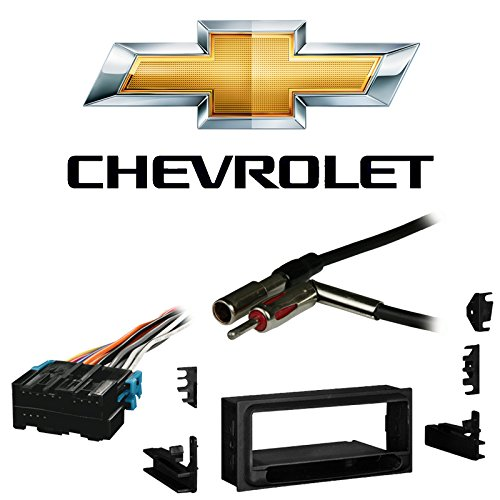 Fits Chevy S-10 Pickup 2002 w/Factory 1.5 DIN Radio Harness Install Dash Kit - Harness Oem Chevy S10 Pickup