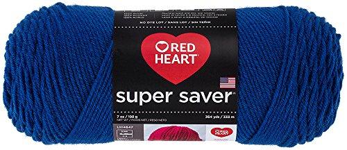 Red Heart  Super Saver Economy Yarn, (Royal Blue Knitting Yarn)