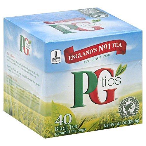 PG Tips Black Tea, Pyramid Tea Bags, 40 ct, 2 pk ()