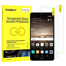 PASBUY 2 Pack Super thin 0.26mm [ Japan Glass ] Premium Tempered Glass film Screen Protector-Retail packing for Huawei Mate 9