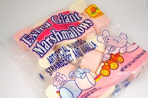 Dulces De La Rosa (Dulce de la Rosa Extra Giant Marshmallows - Strawberry & Vanilla Flavor, 24.7 oz, 700 g, Pack of 3 Bags)