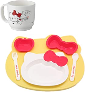 Hello Kitty Lunch Plate for Kids with Hello Kitty Cup Set - (HelloKitty lunchplate Set)