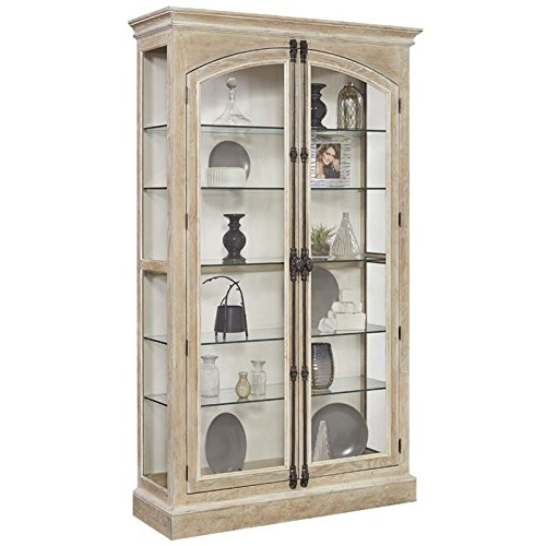 Pulaski 21541 Hailey Cremone Door Curio Cabinet, Brown