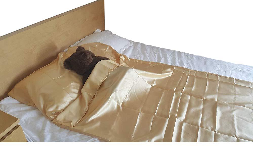 Flat Sheet Alternative 95 in x 42 in Size Silky Satin Cocoon Sleep Sack Sleep bag / sheet For Travel hotel /sleep over /Camping Sleep Bag inner Protector (Black) FineHome FHSLB-H16