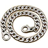 14'' ~ 36'' 316L Stainless Steel Curb Link Mens Biker Punk Wallet Chain 5C015WC (End to End 22 Inches)