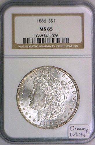 1886 P Morgan Dollar MS-65 NGC