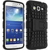 Avizar - Coque Protection Antichocs pour Samsung Galaxy Grand 2 et 2 Duos - Bimatière Noir