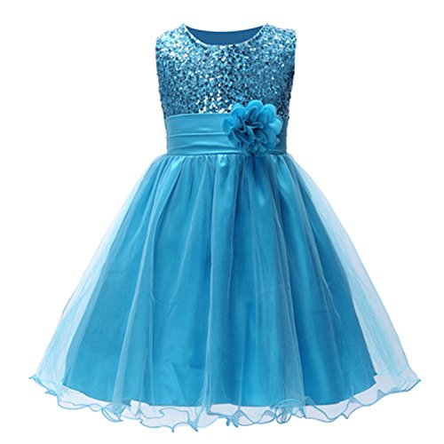 Huaqiang fashion Summer Christmas cute flower Girls Dress sequined mesh Girl Clothing Sleeveless Princess Dresses Girl Costume Kids girls as picture 4T - Jack And Jill Costume Sale