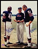 Dick Butkus & Gale Sayers w/ George Halas 8 x 10 reprint photo Chicago Bears