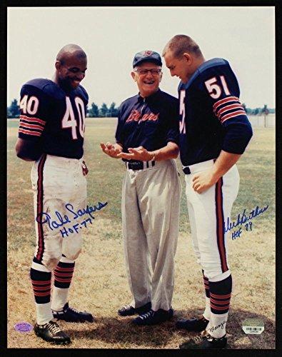 Dick Butkus & Gale Sayers w/ George Halas 8 x 10 reprint photo Chicago Bears (Photo Butkus Dick)