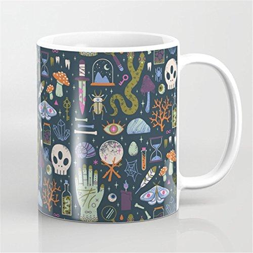 Halloween Ceramic Mug Cute Halloween Gifts Cute Halloween Pattern Mugs Cute Curiosities Mug