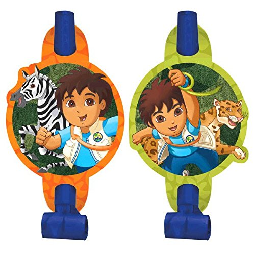 Amscan Fun Diego's Biggest Rescue Blowouts Birthday Party Favor (8 Piece), 5-1/4 x 3-1/4