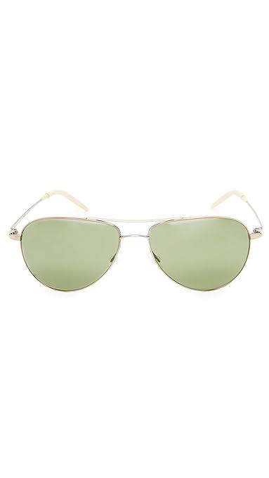 478f6af09c Amazon.com  Oliver Peoples Unisex Benedict 59 Antique Gold Jade Polarized   Clothing