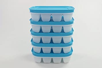 TUPPERWARE Mini Bandeja de Hielo Flexi blanco azul (5)