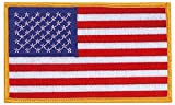 Military Police Sew On Embroidered Jumbo American Flag Patch 3'' X 5''