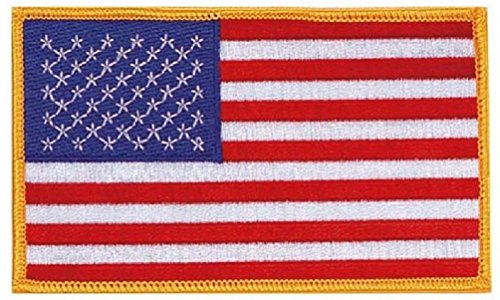 Military Police Sew On Embroidered Jumbo American Flag Patch 3'' X 5'' by Bellawjace Clothing