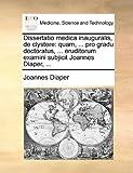 Dissertatio Medica Inauguralis, de Clystere, Joannes Diaper, 117051555X