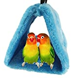 Bello Luna Blue Parrot Nest Pet Bird Nest Winter Warm Hammock Hanging Cave Cage Plush Happy Hut Tent Bed(S)