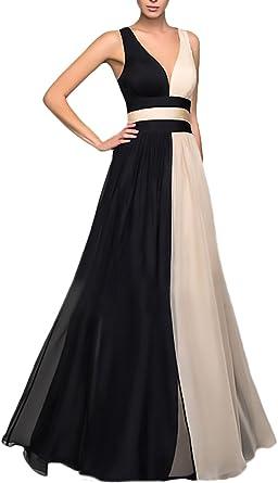 Vestiti Cerimonia Lunghi.Vestiti Donna Elegante Cerimonia Lunghi Da Sera Collo V Senza