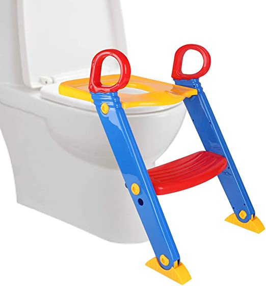 Toddler Toilet Chair Kids Potty Training Seat with Step Stool Ladder for Child