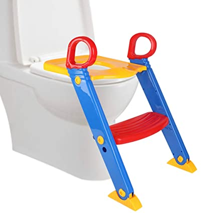 Stupendous Amazon Com Nesee Training Seat With Ladder Kids Toilet Short Links Chair Design For Home Short Linksinfo