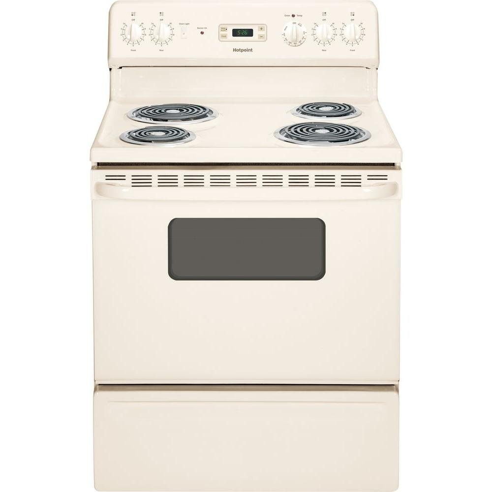 Hotpoint RB526DHCC 30-Inch  5 Cu.Ft. Free-Standing Electric Range, Bisque