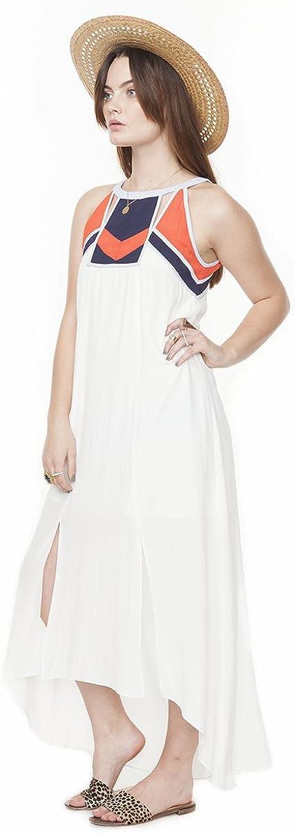 SuperModelGear Native Desert Womens White and Multi-Colored Tribal Maxi Dress