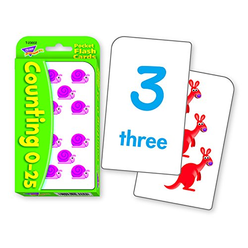25 Flash Cards (Counting 0-25 Pocket)