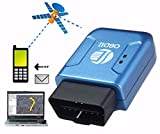 MRCARTOOL TK206 OBD GPS+GPRS+OBDII Tracker Car Vehicle Tracking System Locator Geo-fence Device GPS tracker OBD 2 Real Time GSM Quad Band Anti-theft Vibration Alarm GSM GPRS Mini GPRS tracking (Blue)