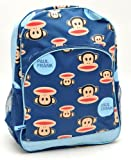 "Back to School - Paul Frank Julius Monkey Head in Blue Large Backpack - Size Approximately 16"" X 11"""