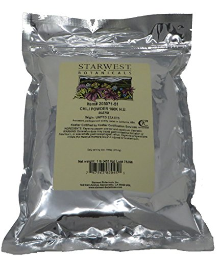 Starwest Botanicals Chili Pepper Powder 160K H.U. 1 Pound
