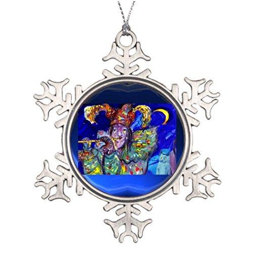 Ideas for Decorating Christmas Trees Flutist in Blue/Venetian Carnival Night Tree -