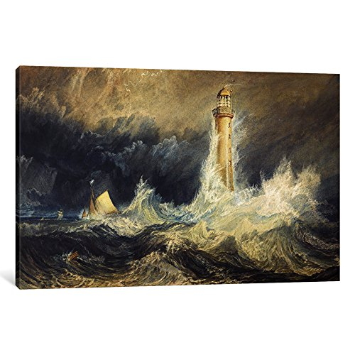 iCanvasART 1-Piece The Bell Rock Lighthouse Canvas Print by J.M.W Turner, 0.75 by 26 by 18-Inch -