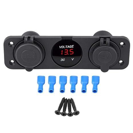 Amazon.com: Acouto 12V 3 agujeros encendedor adaptador de ...