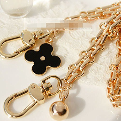 Width 12mm Clover Charms Metal Chain For messenger bags Replacement purse chain / chain strap / chain purse strap / purse chain straps DIY (120cm)