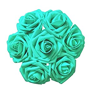 Jing-Rise Artificial Flowers Real Looking Fake Roses with Stem for DIY Wedding Bouquets Centerpieces Party Baby Shower Home Decorations 2