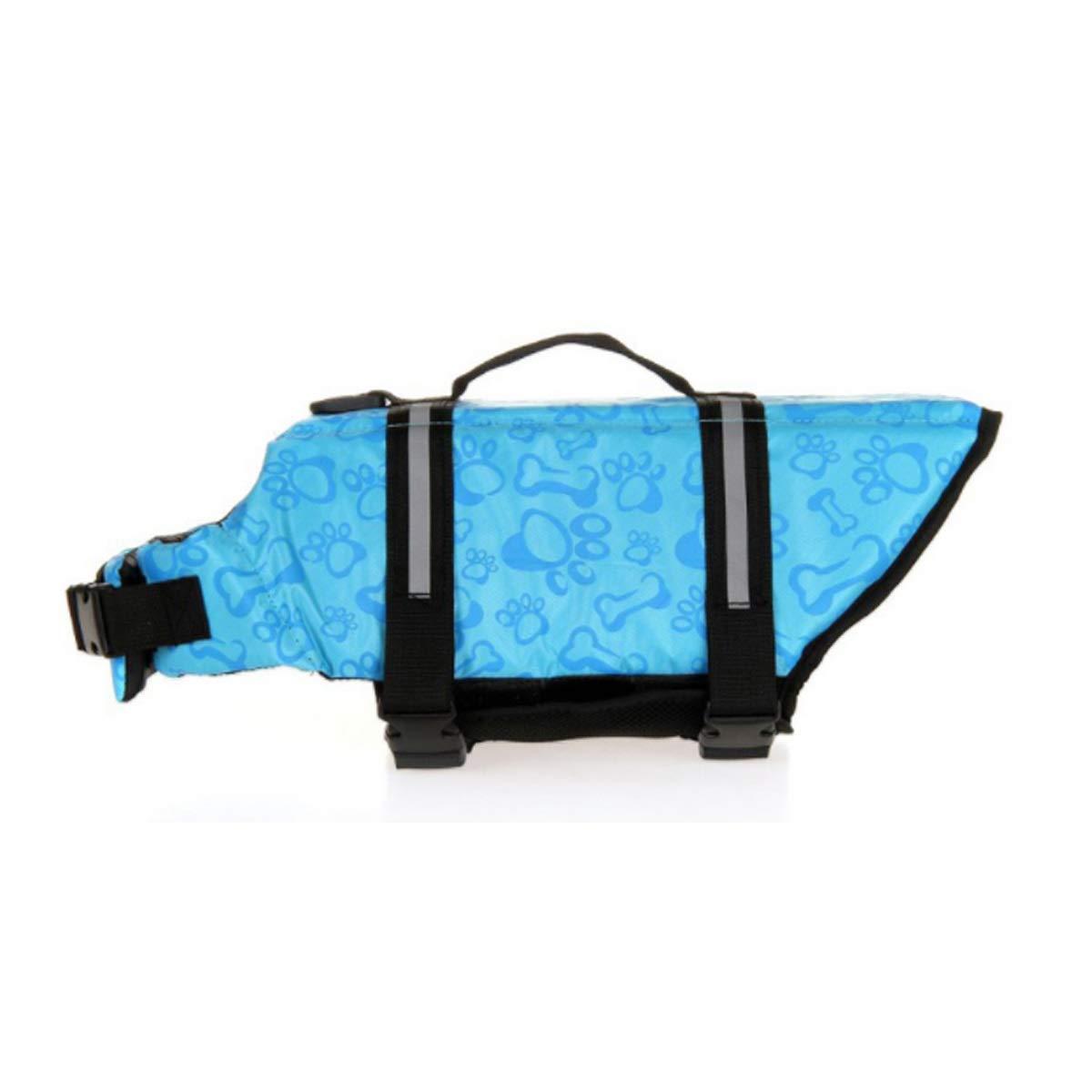 bluee M bluee M Pet Dog Swimsuit, Dog Life Jacket, Large Dog Medium Dog Small Dog Safety Clothing (color   bluee, Size   M)