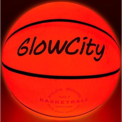 Glow-in-The-Dark Light Up LED Balls – Variety 3 Pack of Official Sized Basketball, and Football, and Size 5 Soccer Ball – Ideal for Glow Parties and Playing at Night – Bonus Spare Batteries: Toys & Games