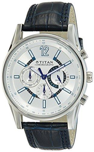 Titan Classique Analog Silver Dial Men #39;s Watch NL9322SL10 / NL9322SL10