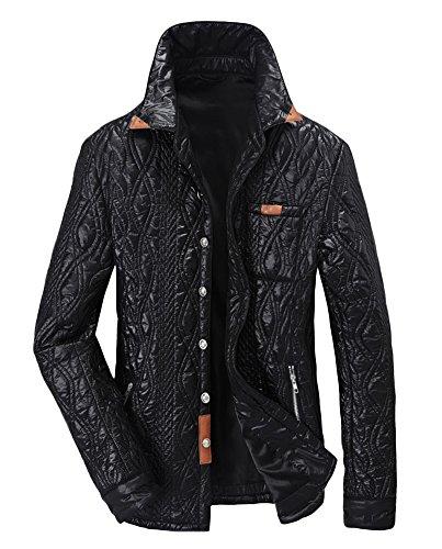 ICEGREY Men's Outwear Windcheater Twill Jacket Coats Spring Autumn Winter Black XXL