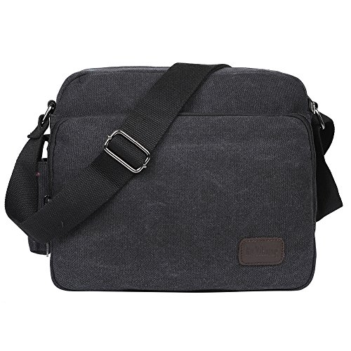 For School E527 Sling Black Body Daily And Daypack Pack 1 Work Bag Shoulder Satchel Canvas Use Men's Egogo Cross Messenger TwxPgqOq