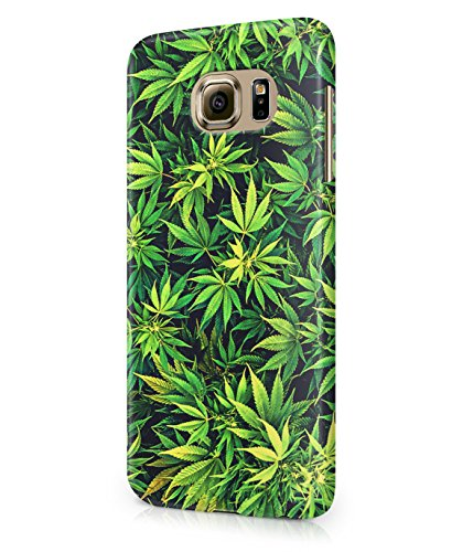 Weed Mary Jane Leaves Plastic Snap-On Case Cover Shell For Samsung Galaxy S6