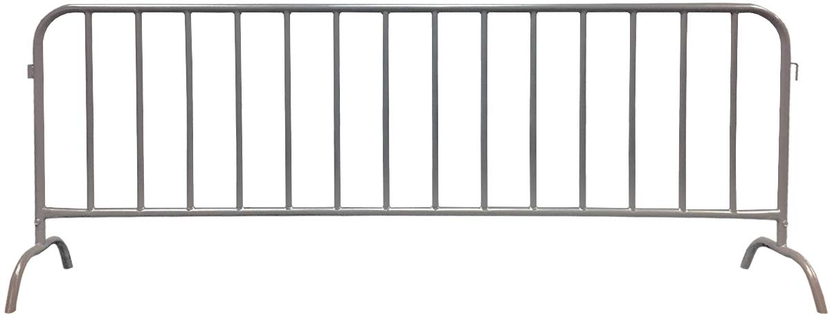 Electriduct 8.5 Feet Heavy Duty Steel Barrier Interlocking Crowd Control Barricade with Galvanized Finish (Pack of 10 Barricades) by Electriduct (Image #2)