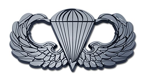 Elektroplate Army Parachute Chrome Auto Emblem