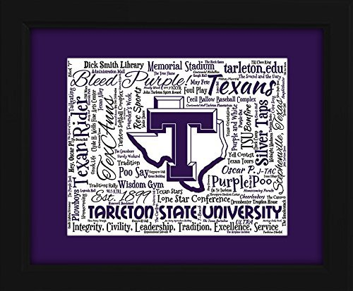 Tarleton State University 16x20 Art Piece - Beautifully matted and framed behind glass
