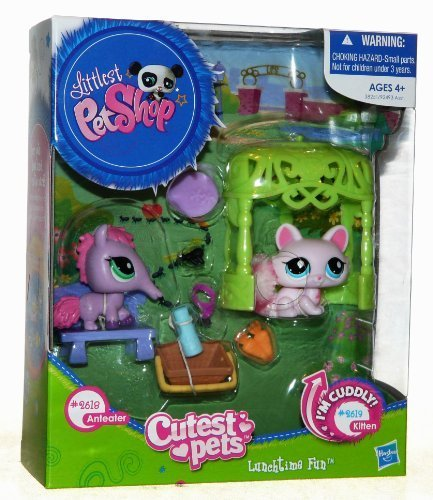 Littlest Pet Shop Cutest Pets Lunchtime Fun - Anteater 2618 & Kitten 2619 by Hasbro