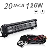 bull bar for 2014 ford f150 - DOT Approved 20Inch Spot Flood Combo Led Light Bar Reverse For Front Rear Bumper Brush Bull Bar Grille Trails Golf Cart Boat ATV 4Wheeler Jeep UTV Toyota Honda Tractor Truck Mower Ford F150 Polaris