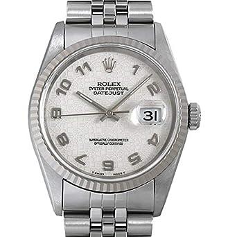 timeless design ab5a1 edca2 Amazon | ロレックス デイトジャスト W番 16234 ホワイト彫り ...